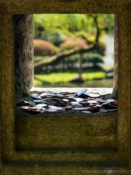 View thru a lantern - Seattle Japanese Garden