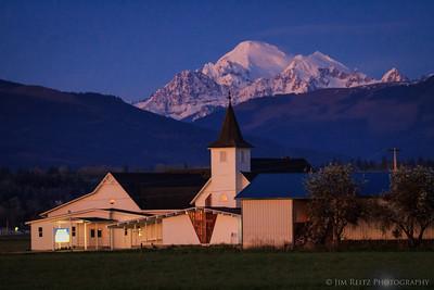 Church & Mountain