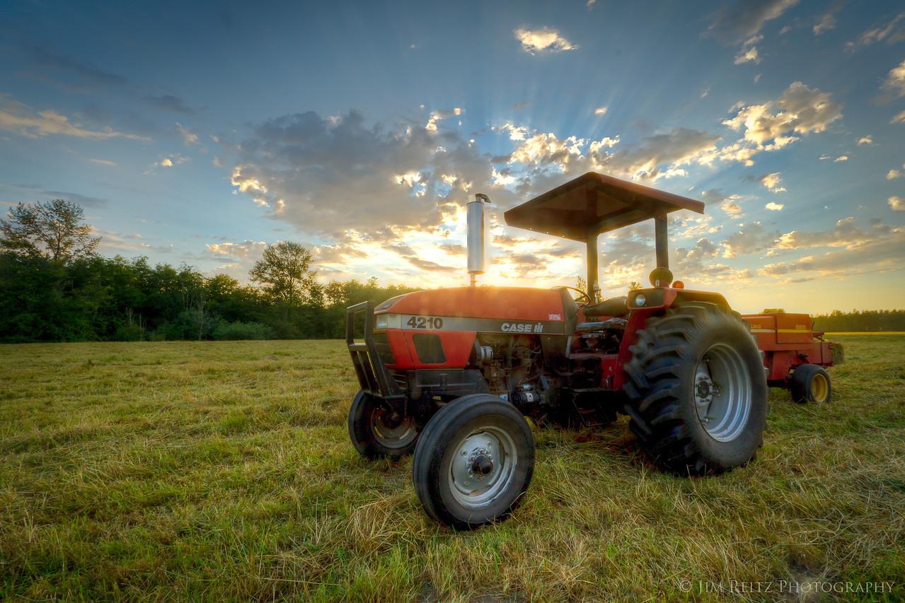 Sunset near Meadowbrook farm, North Bend