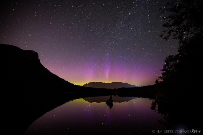 Aurora Borealis on 7/9/13, taken at Rattlesnake Lake near North Bend, Washington