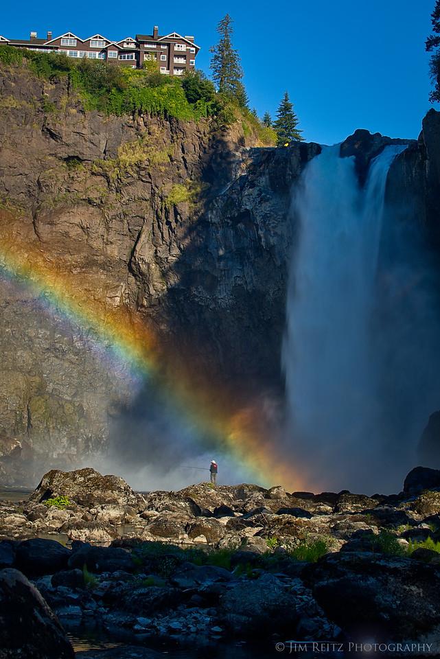 Snoqualmie Falls - mist rainbow