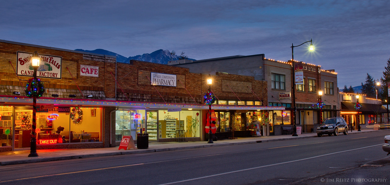 Historic downtown Snoqualmie