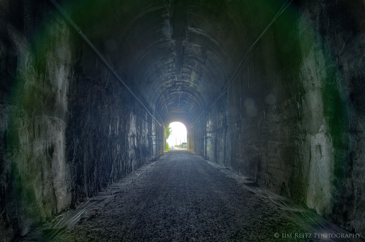 The 2.3-mile tunnel under Snoqualmie Pass, part of the Iron Horse State Park bike trail.