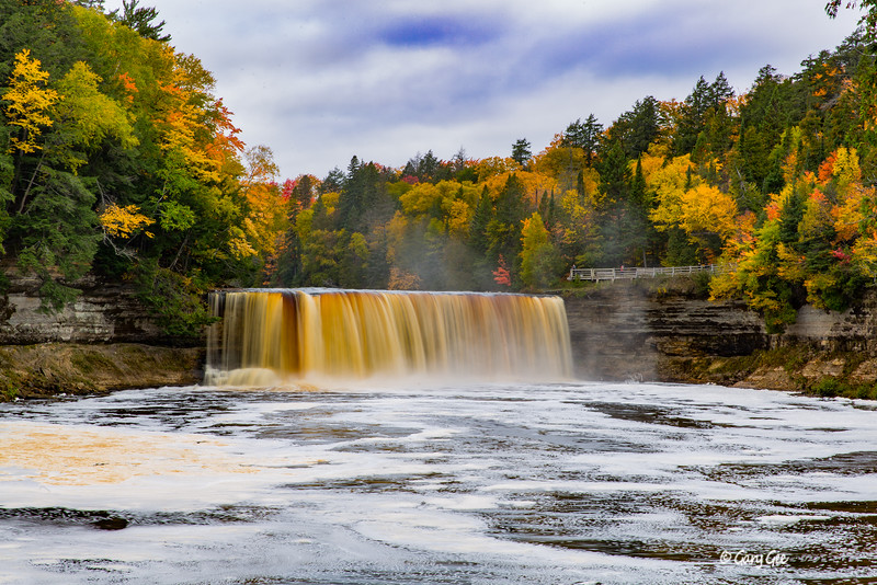 Tahquamenon Falls on a gloomy day October 15, 2016