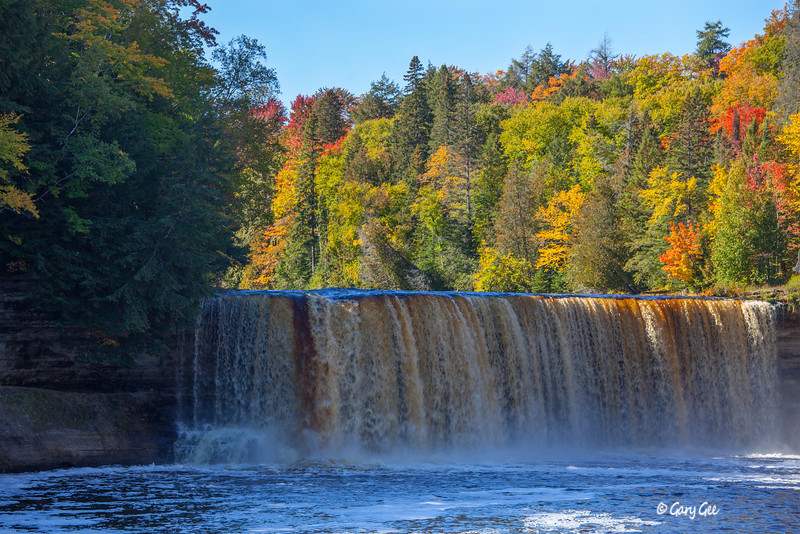 Tahquamenon Falls with Brilliant Fall Colors