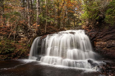 Red Rock Falls in Autumn, AuTrain Michigan