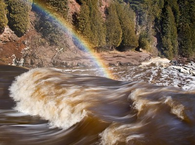 Gooseberry Falls with Rainbow