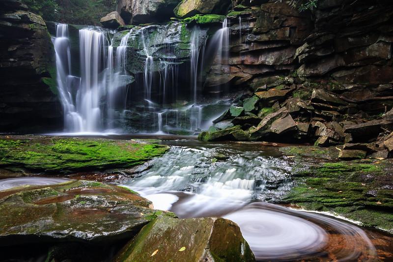 Falling Water Swirls
