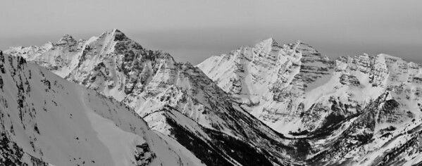 Winter panorama from Highlands Peak