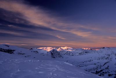 Sunset on Scarp Ridge