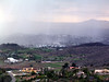 A hailstorm creates a curtain in the valley - March 3, 2004
