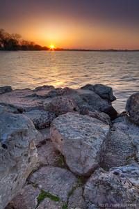 Sunset near Lakeside Park, Fond du Lac