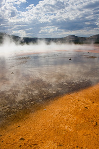 Run-offs from Grand Prismatic Spring - Midway Geyser Basin, Yellowstone National Park, WY