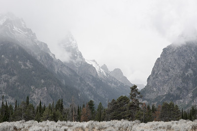 Clouds over Grand Tetons - Grand Tetons National Park, WY