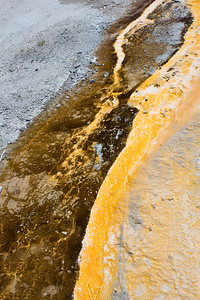 Run-Off Stream Abstract - Old Faithful, Yellowstone National Park, WY