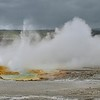 Clepsydra Geyser at Fountain Paint Pot