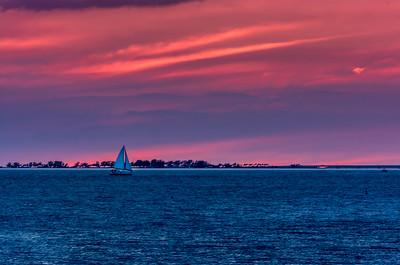 Lonely Sailboat Florida