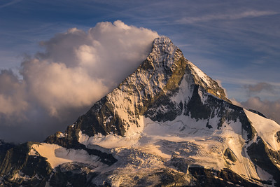 North Face of the Matterhorn from the Arben bivouac hut (Obergabelhorn), Zermatt, Switzerland