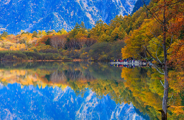 Water Reflection, Kamikochi, Nagano, Japan