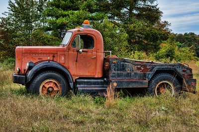 Rusted Truck in the Field
