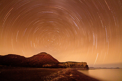 Stars move through the skies above Baja California. November, 2013.