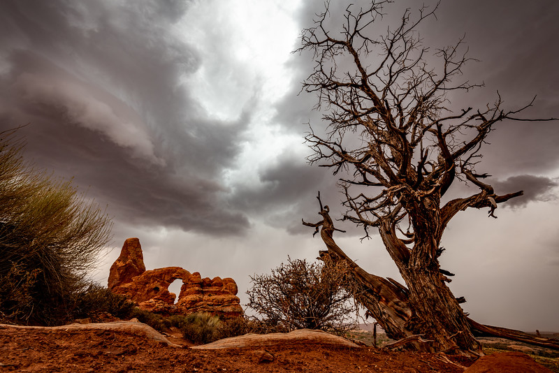 Summer storm over Arches National Park, Utah