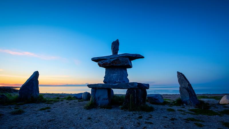 Sunset at the Inuksuk
