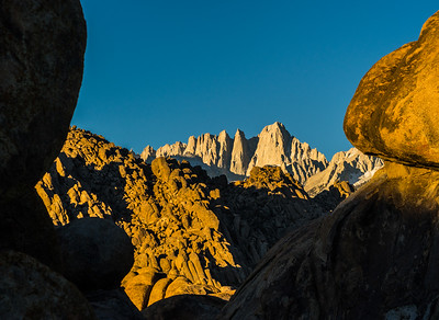 Mount Whitney in morning light from Alabama Hills
