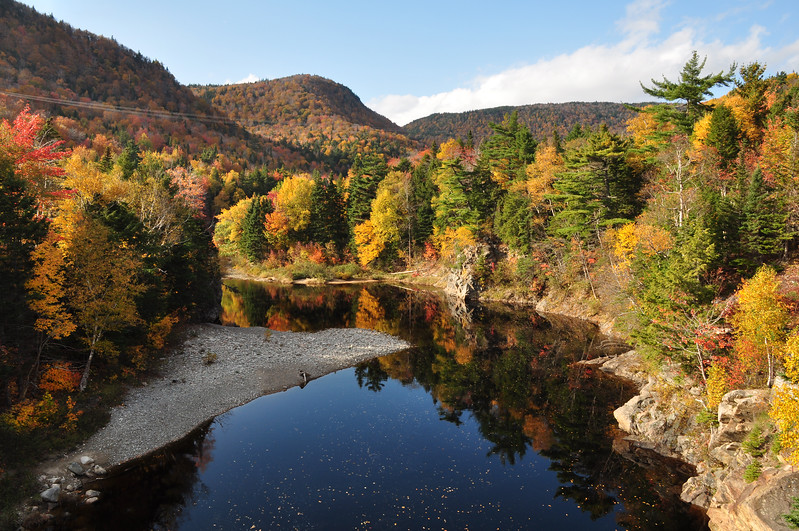 Indian River, Cape Breton in peak fall colours