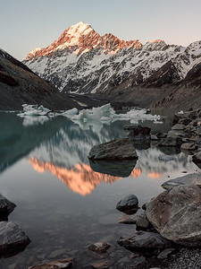 Hooker Lake & Mt. Cook, New Zealand
