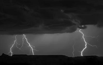 Lighting Storm over Green Valley