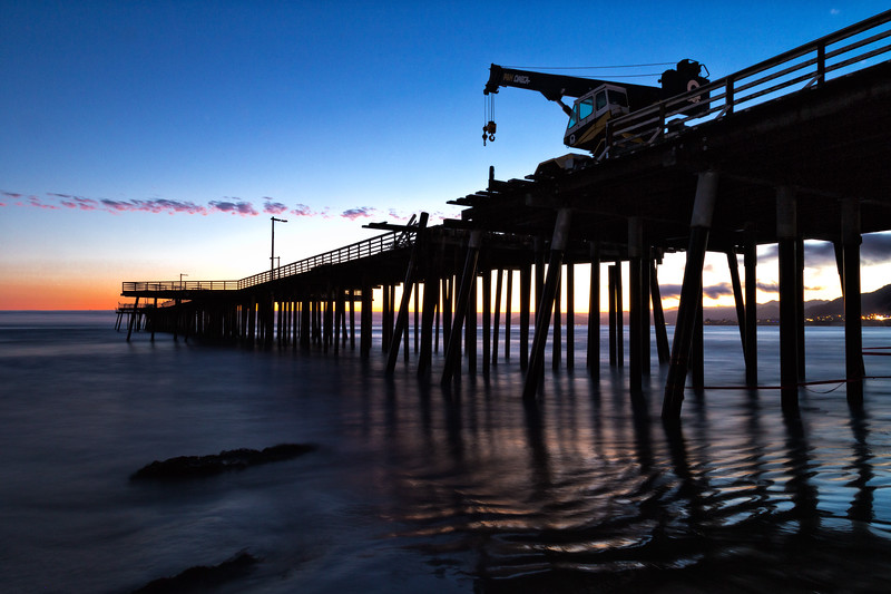 A different composition on the Pismo Pier.<br /> <br /> #OCPhotog #Beach #Night #Sunset #Pismo #PismoBeach #Seascape #Ocean # Costruction #PismoPier #WeekendGetaway #Outdoors #GetOutside #Outside #Sky