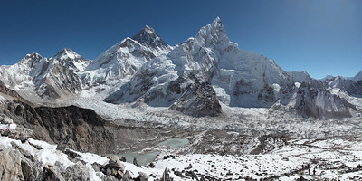 Mt. Everest, Mt. Nuptse and Mt. Lhotse - Himalaya, Nepal