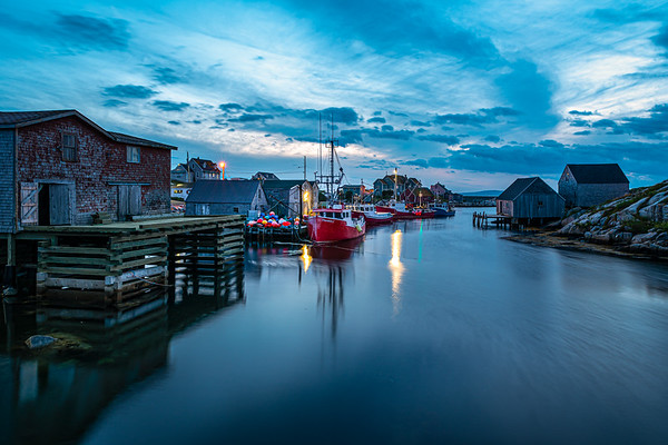 Peggy's Cove Harbour at Blue Hour