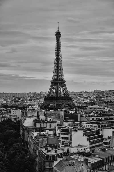 Eiffel Tower Above Paris