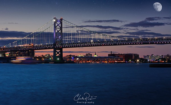 Ben Franklin Bridge Twilight