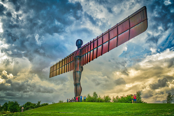 "On my way through England this mighty sculpture caught my attention. The ""Angle of the North""."