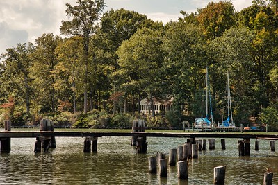 Riverfront Dock in Northern Neck of Virginia