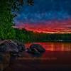 Sunset at Leech Lake