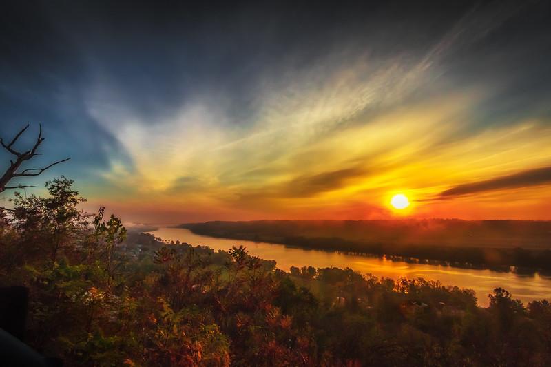 Sunrise over the Ohio River from Gallipolis, Ohio