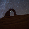Star Trails at Delicate Arch