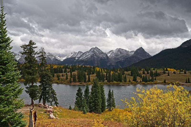 Autumn Mountains Near Molas Lake