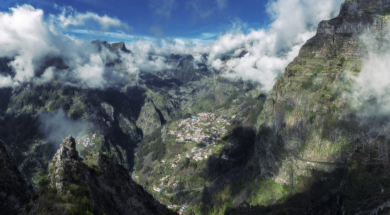 Panorama of Nuns Valley in Madeira Portugal