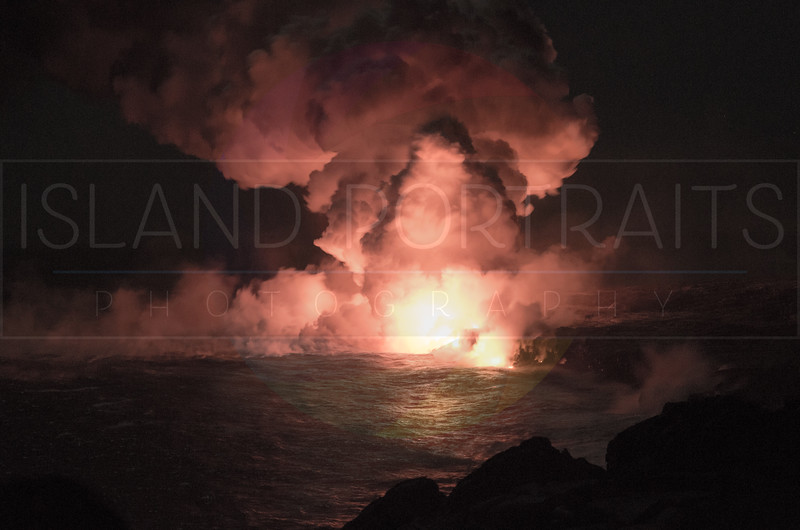 Kalapana Lava Ocean Night Entry