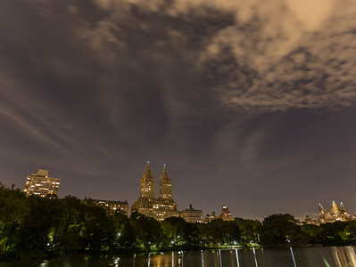 NYC Cityscape from inside Central Park