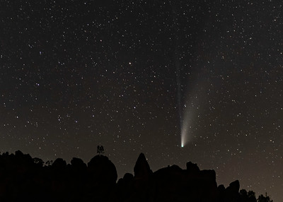 Comet Neowise over Pinnacles National Park