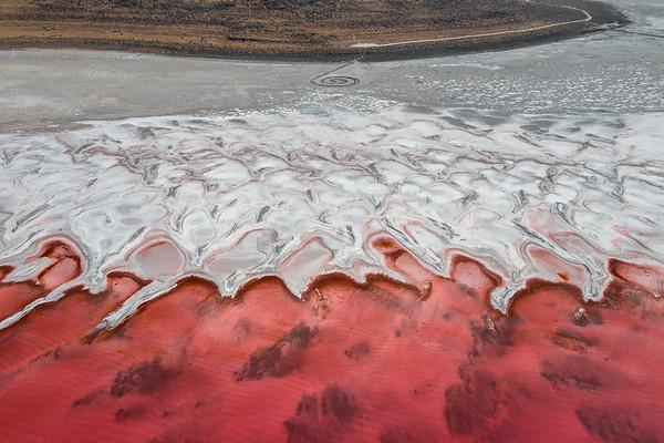 Spiral Jetty - Great Salt Lake, Utah