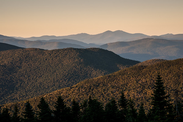 Jay Peak and Green Mountains, from Spruce Peak, Stowe, VT