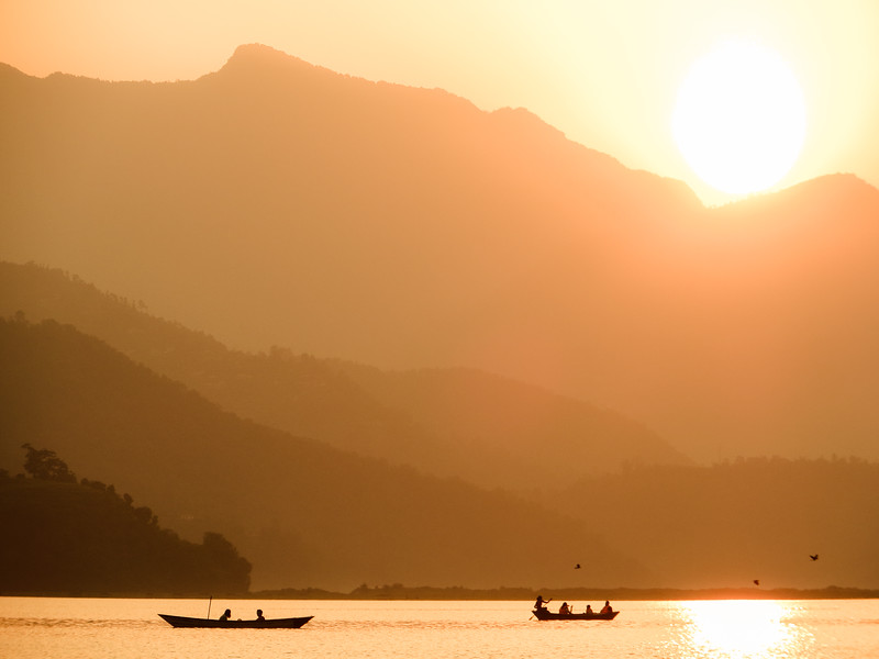 pokhara-sunset