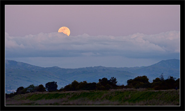 Full Moon Over East Bay Foothills